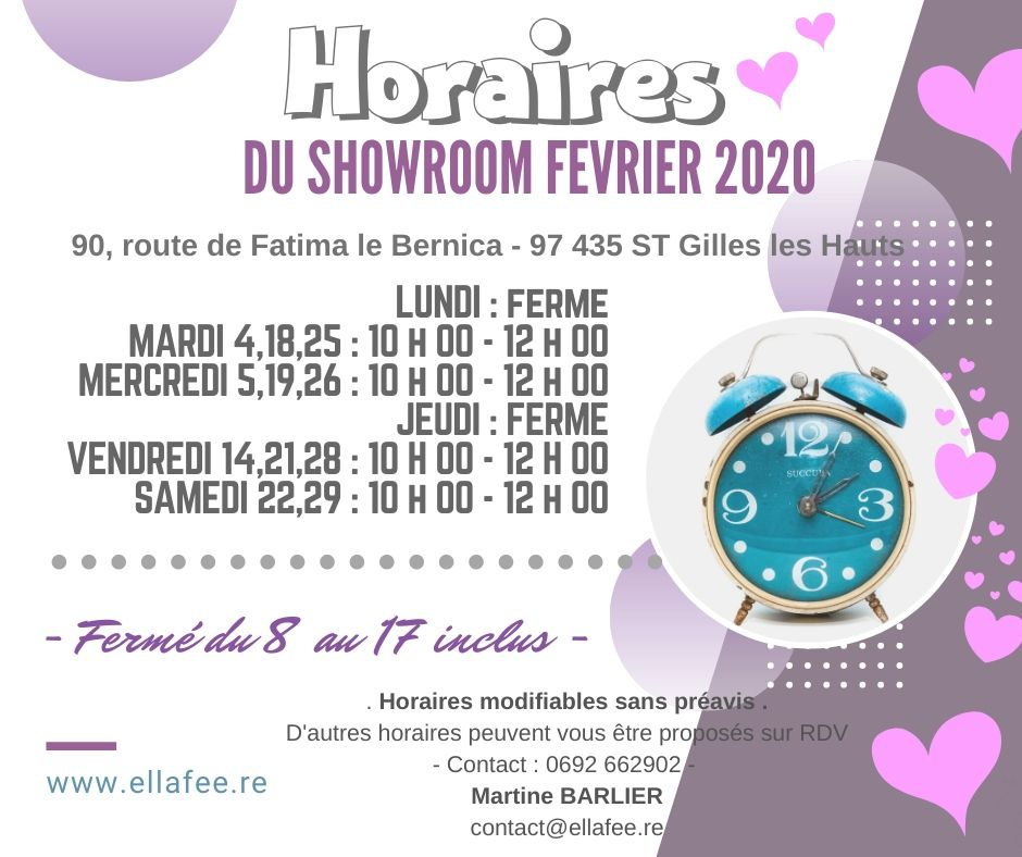 3 HORAIRE FEVR 2020