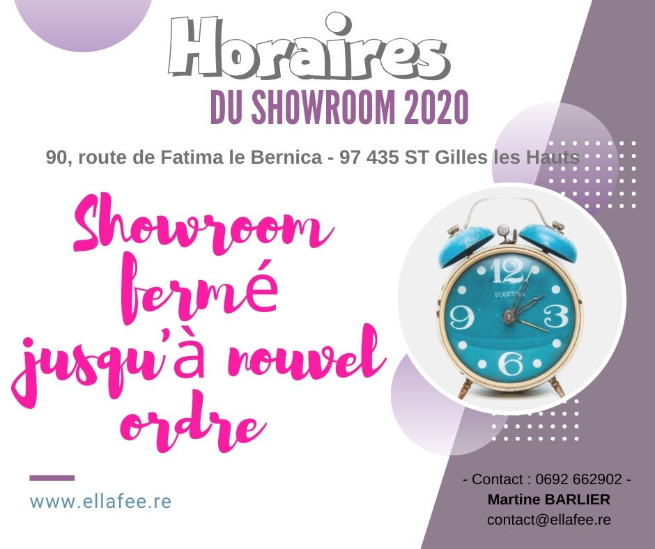 HORAIRE SHOWROOM 2020