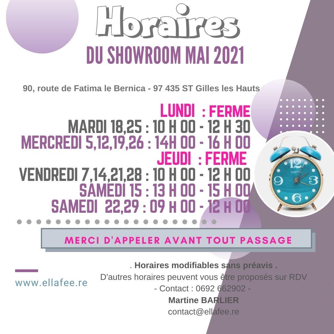 HORAIRES MAI 2021