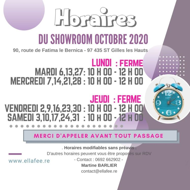 NEW HORAIRE OCT 2020